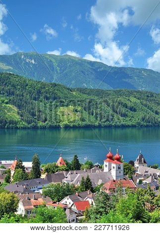 Village Of Millstatt Am See At Lake Millstatt In Carinthia,austria