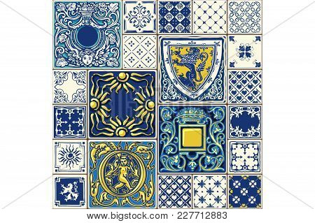 Tile Illustration. Decor Vector Tiled Illustration. Tiled Original Decoration With Motives Repetitio