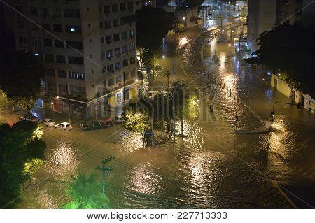 Flood In The City Of Rio De Janeiro