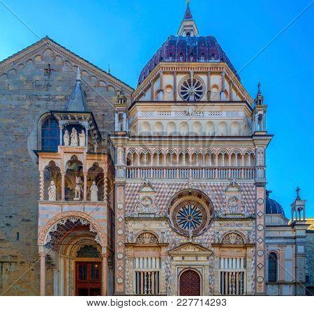 Part Of Facade From Basilica Of Santa Maria Maggiore, Cappella Coleoni, Piazza Duomo, Bergamo Alta C