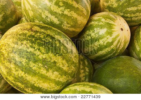 Closeup Of Watermelons
