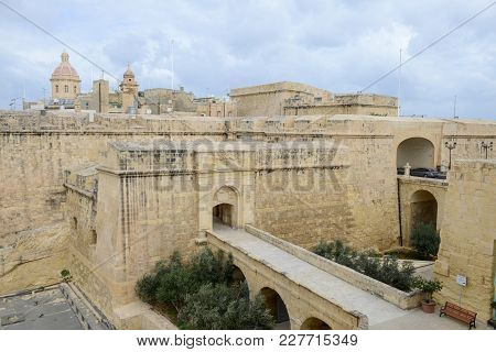 Vittoriosa, Malta - 31 October 2017: The Historic Town Of Birgu (vittoriosa) On Malta