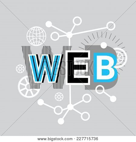 Web Internet Connection Banner Abstract Template Background Vector Illustration
