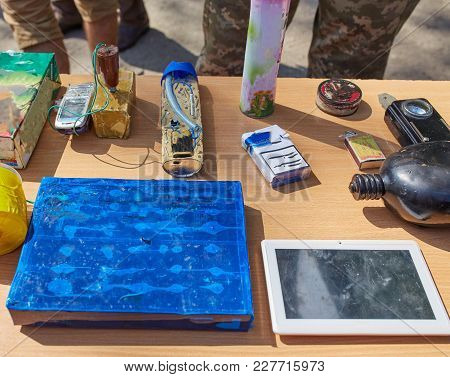 Disguised Under Toys And Gadgets, Explosives Controlled By Phone. Weapons Of War In Ukraine