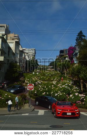 Lombard Street Impressive Unevenness Of One Of The Streets Of San Francisco. Travel Holidays Arquiet