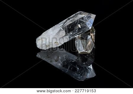 Shining Crystals And Black Background