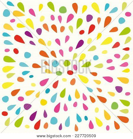 Festive Pattern With Colorful Paint Splashes. Vector