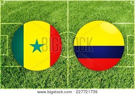 Illustration for Football match Senegal vs Colombia