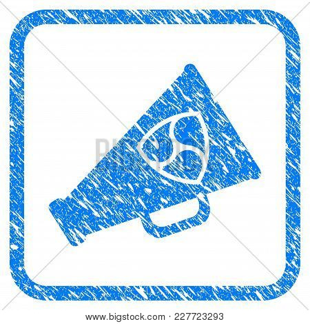 Nem Megaphone Rubber Seal Stamp Imitation. Icon Vector Symbol With Grunge Design And Dirty Texture I
