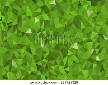 Various Green Triangular Pattern - Triangles Mosaic - Vector Illustration