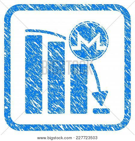 Monero Panic Fall Chart Rubber Seal Stamp Watermark. Icon Vector Symbol With Grunge Design And Dirty