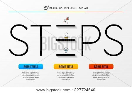 Infographic Design Template With 3 Steps. Vector Illustration
