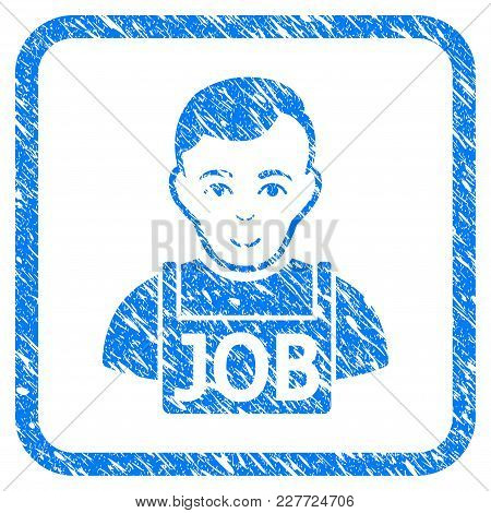 Jobless Rubber Seal Stamp Watermark. Icon Vector Symbol With Grunge Design And Dirty Texture In Roun