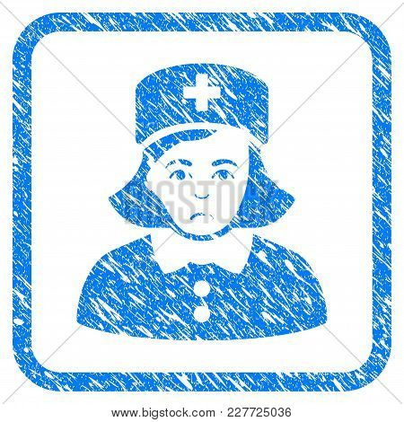 Nurse Rubber Seal Stamp Watermark. Icon Vector Symbol With Grunge Design And Dirty Texture In Rounde