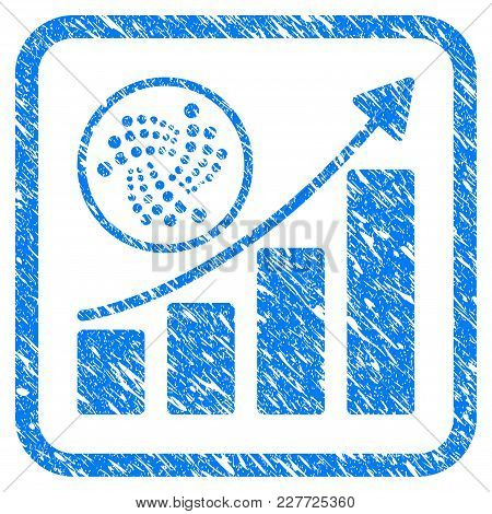 Iota Growth Chart Rubber Seal Stamp Watermark. Icon Vector Symbol With Grunge Design And Dust Textur