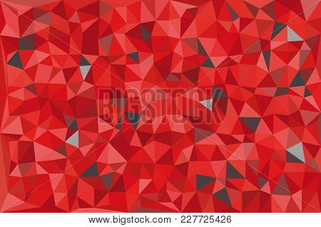 Red And Gray Triangular Pattern - Triangles Mosaic - Vector Illustration