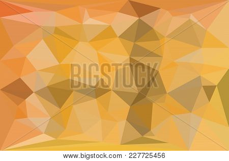 Yellow And Gray Triangular Pattern - Triangles Mosaic - Vector Illustration