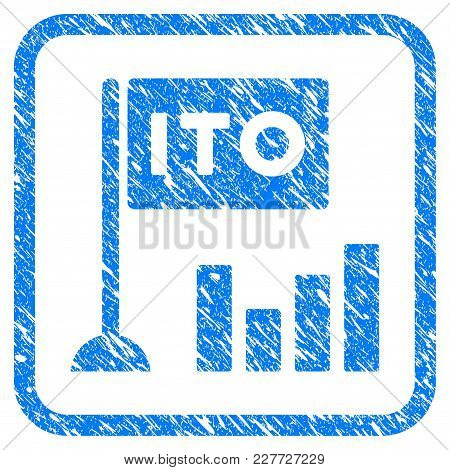 Ito Bar Chart Rubber Seal Stamp Watermark. Icon Vector Symbol With Grunge Design And Unclean Texture