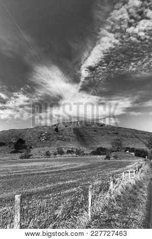 Cley Hill - Warminster- Wiltshire - Black And White