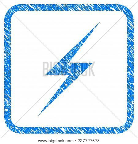 Lightning Rubber Seal Stamp Watermark. Icon Vector Symbol With Grunge Design And Unclean Texture Ins