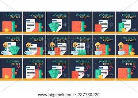 Successful Investing Concept. Bank Holding. Financial Budget Banner. Money, Coins With Document. Ear