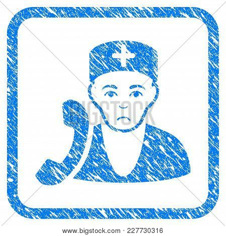 Medical Receptionist Rubber Seal Stamp Imitation. Icon Vector Symbol With Grunge Design And Corrosio
