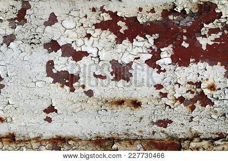 Cracked Paint On Rusty Iron - Grunge Texture