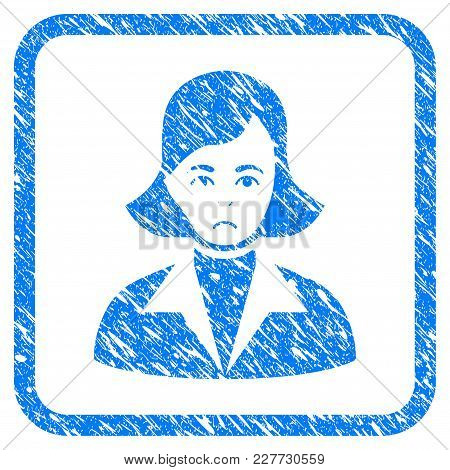 Lady Rubber Seal Stamp Watermark. Icon Vector Symbol With Grunge Design And Dirty Texture Inside Rou
