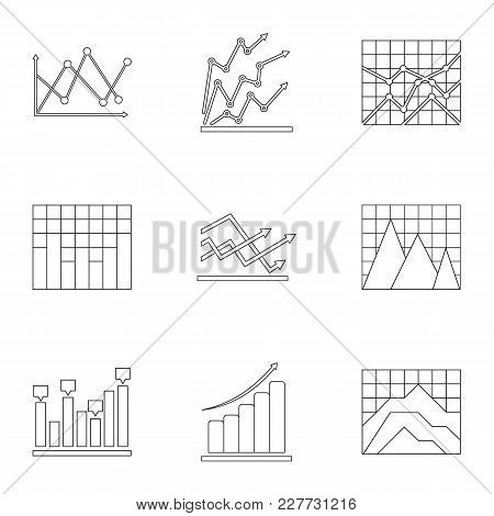 Info Stand Icons Set. Outline Set Of 9 Info Stand Vector Icons For Web Isolated On White Background