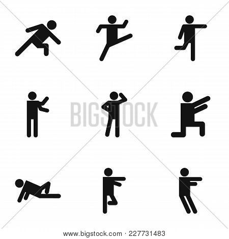 Exercise Icons Set. Simple Set Of 9 Exercise Vector Icons For Web Isolated On White Background