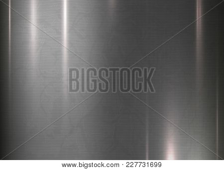 Metal Abstract Texture Background. Brushed, Polished, Chrome, Silver, Steel, Aluminum. For Design Co