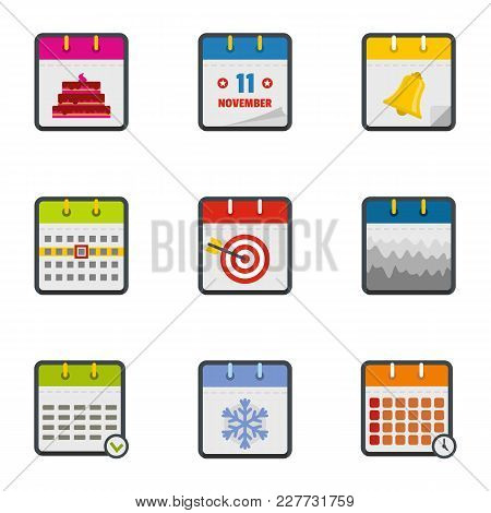 Yearbook Icons Set. Flat Set Of 9 Yearbook Vector Icons For Web Isolated On White Background