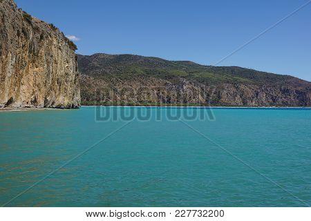 Etretat, La Manneporte Natural Rock Arch Wonder, Cliff And Beach