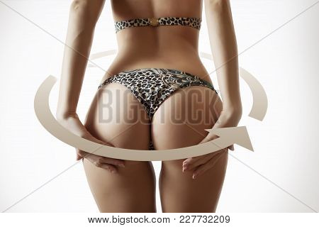 Woman Body Before And After Figure Transformantion