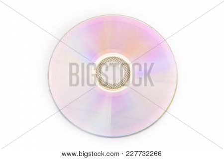 Dvd, Sd Disk, Isolated On White Background