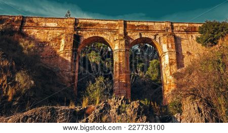 Aquaduct Arroyo De Don Ventura, Montes De Malaga, Spain