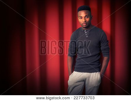 Stand Up Comedy Comedian Stage Red Curtain Show Entertainment Night