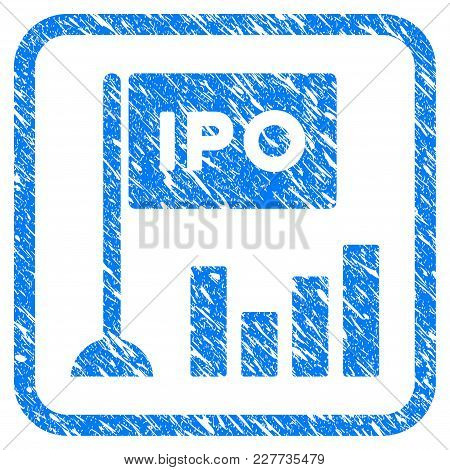 Ipo Bar Chart Rubber Seal Stamp Watermark. Icon Vector Symbol With Grunge Design And Unclean Texture
