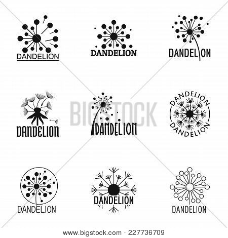 Dandelion Bloom Icons Set. Simple Set Of 9 Dandelion Bloom Vector Icons For Web Isolated On White Ba