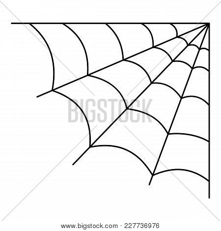 Cellular Spiderweb Icon. Outline Illustration Of Cellular Spiderweb Vector Icon For Web