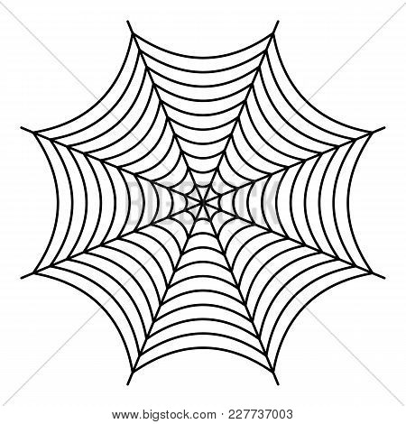 Nice Spiderweb Icon. Outline Illustration Of Nice Spiderweb Vector Icon For Web