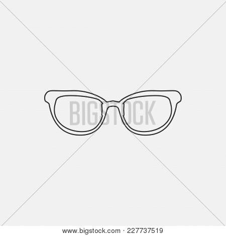 Glasses Icon Vector Illustration. Optik Eye Glasses Icon Vector.