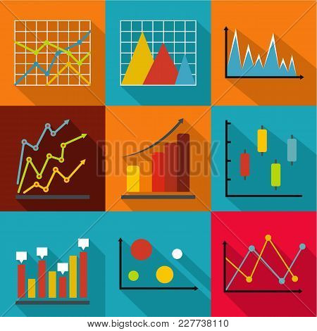 Economic Research Icons Set. Flat Set Of 9 Economic Research Vector Icons For Web Isolated On White