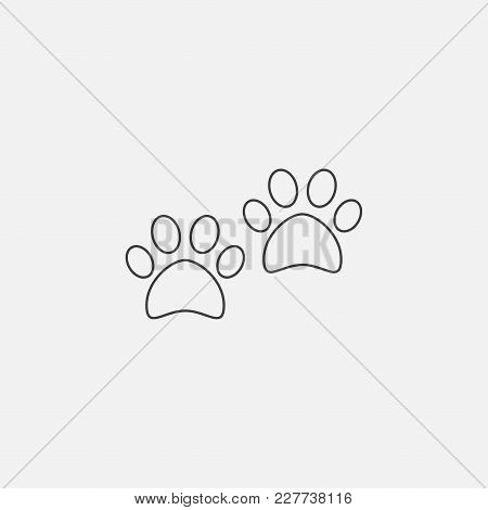 Paw Icon Vector Illustration. Foot Paw Icon Vector.