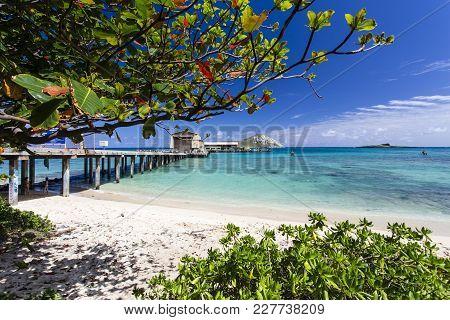 Kailua, Hawaii/usa - February 26, 2017: Research Pier Of Makai Ocean Engineering Company Providing D