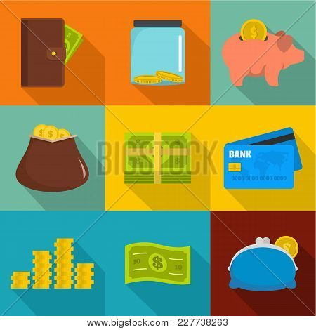 Business Impact Icons Set. Flat Set Of 9 Business Impact Vector Icons For Web Isolated On White Back