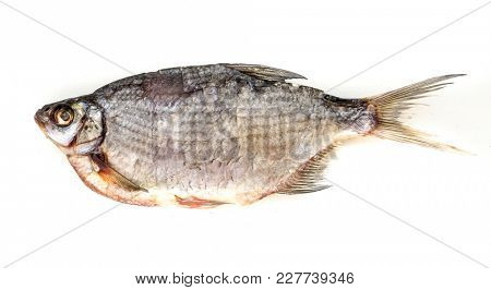 The Dried Fish Bream isolated.