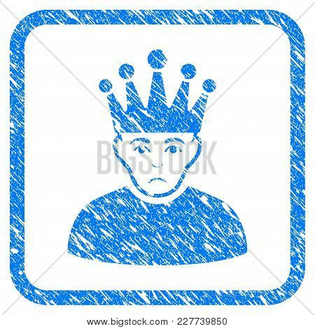 Moderator Rubber Seal Stamp Imitation. Icon Vector Symbol With Grunge Design And Dirty Texture Insid