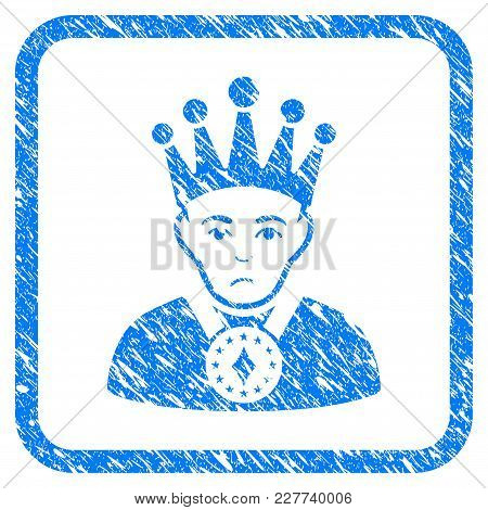 King Rubber Seal Stamp Watermark. Icon Vector Symbol With Grunge Design And Unclean Texture Inside R