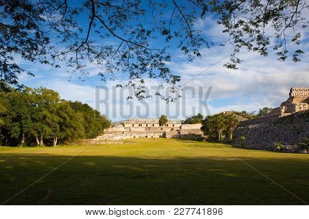 Majestic Kabah Ruins ,mexico. The Kabah Ruins Were A Shipwreck Site Located In The Navassa Region Of